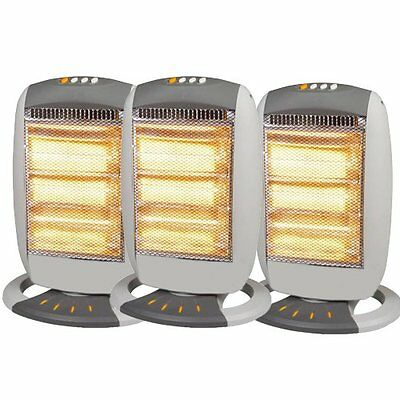 £19.99 • Buy Electric Portable 1200w Halogen Oscillating Heaters For Home Or Office
