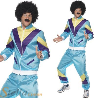 Mens Shell Suit Costume 80s Scouser Tracksuit Fancy Dress Adult Outfit • 24.99£