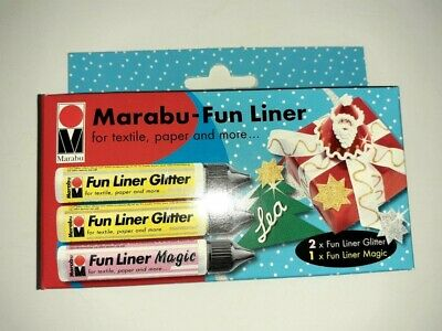 Marabu Gold Silver Glitter And White For Textiles Card Metal Wood Glass Etc    • 2.70£