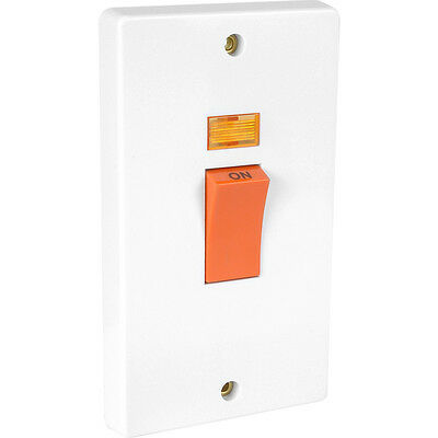 £19.87 • Buy NEW Crabtree Cooker Switch Double Pole 45A 2 Gang Neon DIY