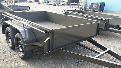 AU2399 • Buy 8x5 Tandem Trailer With Checker Plate Floor 400 Mm High Side