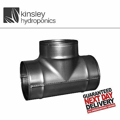 Ventilation T Piece 4 5 6 8 10 12 Inch Ducting Connector Grow Room Hydroponics • 11.99£