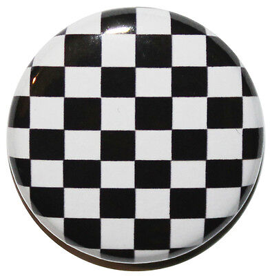 £0.99 • Buy 1  (25mm) 'Checkered Flag' Button Badge Pin - MADE IN UK - HIGH QUALITY