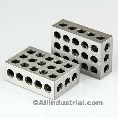 $18.99 • Buy 1 Matched Pair Ultra Precision 1-2-3 Blocks 23 Holes .0001  Machinist 123 Jig