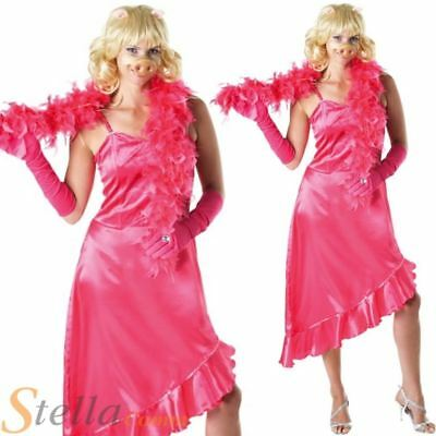 Ladies Miss Piggy Muppets 80s Cartoon Fancy Dress Costume Adult Outfit • 26.99£