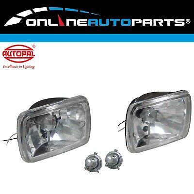 AU39.75 • Buy Crystal H4 Headlight Upgrade Kit Hilux Ute 2x H4 60/55w Halogen Lamps Rectangle