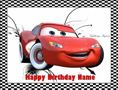 LIGHTNING McQUEEN Edible Icing Image Birthday Cake Topper Party Decoration #3 • 7.91£