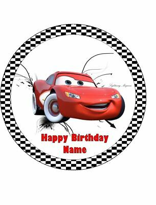 LIGHTNING McQUEEN 19cm Edible Icing Image Birthday Cake Topper Decoration #3 • 7.41£