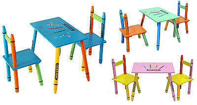 Kiddi Style Childrens Wooden Table And Chair Set - Kids Toddlers Childs - NEW • 32.99£