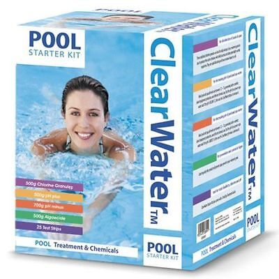 Clear Water Swimming Pool Hot Tub Chemical Water Cleaner Starter Treatment Kit  • 99.98£