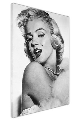 £9.99 • Buy Grey Beautiful Marilyn Monroe Portrait Canvas Pictures Art Prints Wall Posters