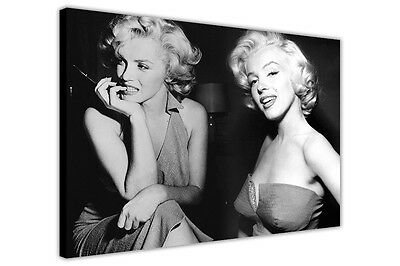 £14.99 • Buy Black And White Montage Sexy Marilyn Monroe Print Canvas Art Picture Wall Poster