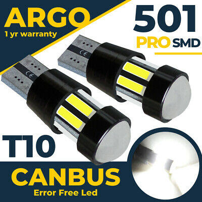 T10 Led 501 Bulbs Cree Side Light Parking Super Xenon White Hid Car Sidelights • 4.89£