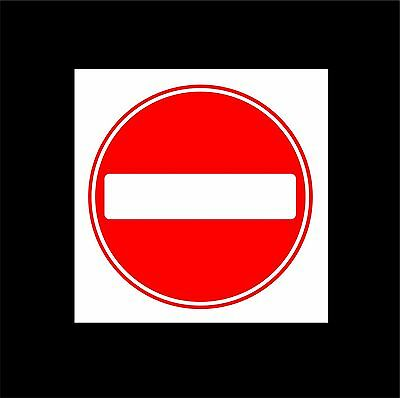 No Entry Symbol Sign Choice Of Sizes Metal / Plastic. Private Land, No Access • 3.95£