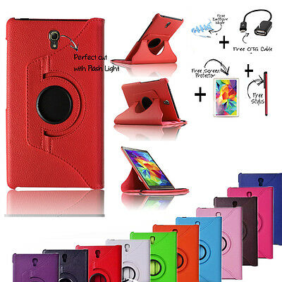 AU14.99 • Buy Samsung Galaxy Tab S (8.4 ) 360 Rotat Leather Case Cover TabS 8.4 T700/705 Acces