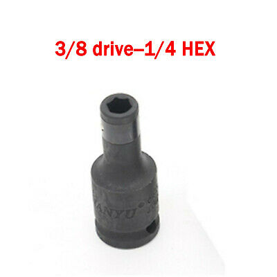 Impact Wrench Chuck ADAPTOR 3/8 Drive 1/4 Hex Drill Bit For Hitachi MILWAUKEE AU • 7.96£