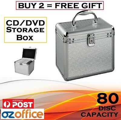 AU24.95 • Buy 80 X CD DVD Blu Ray Aluminium Storage Box Lock Storage Case - BUY 2 = FREE GIFT!