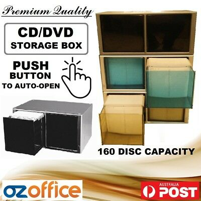 AU74.95 • Buy PREMIUM 160 CD DVD Storage Box Movie Disc Storage Box Case - EXCLUSIVE PRODUCT