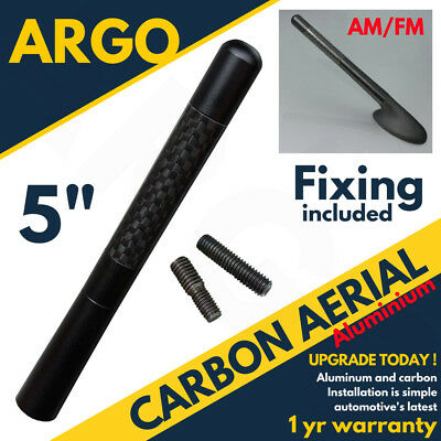 Black Carbon Car Aerial Bee Sting Mast Antenna Ariel Arial Mini Radio Upgrade • 4.69£