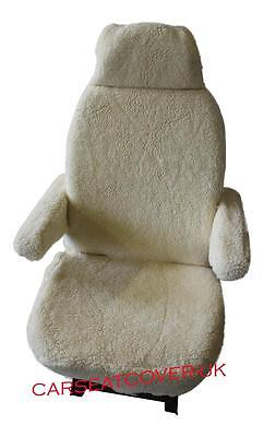 Ford Transit Luxury Motorhome Seat Covers - Faux Sheepskin + Armrest Covers • 68.99£