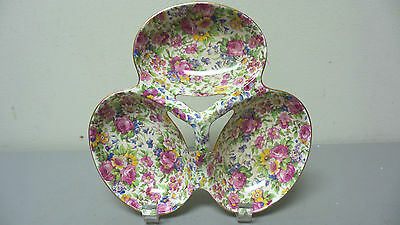 $ CDN334.06 • Buy Nice Royal Winton  Summertime  Chintz 3-section Relish Tidbit Tray / Dish
