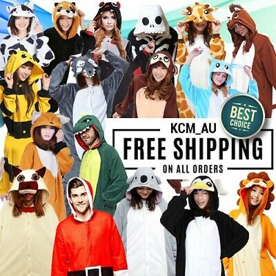 AU34.99 • Buy Adult Kid Animal Onesie Jumpsuit Over 80 Designs Costume Fast Ship From Sydney