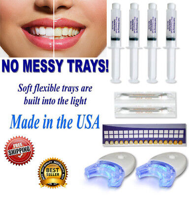 AU16.39 • Buy 44% Teeth Whitening 3d Peroxide Bleach Gel Kit Laser Led White Uv Dental Light