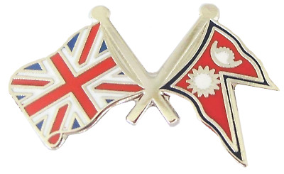 Nepal Flag & United Kingdom Flag Friendship Courtesy Pin Badge • 4.50£