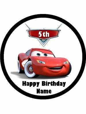 LIGHTNING McQUEEN 19cm Edible Icing Image Birthday Cake Topper Decoration #2 • 7.41£