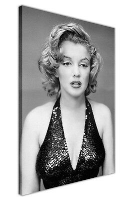 Marilyn Monroe Black Evening Dress Canvas Wall Art Prints Framed Poster Pictures • 9.99£