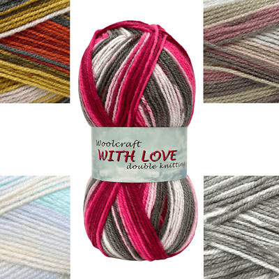 With Love Dk Double Kntting From Woolcraft Knitting & Crochet Yarn / Wool 100g • 2.29£