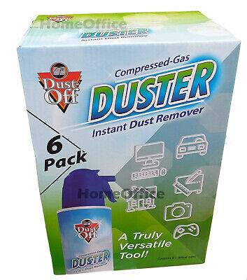 6 X 300ml Dust Off Compressed Air Gas Can Falcon - Blast Dust From Your PC  • 23.59£