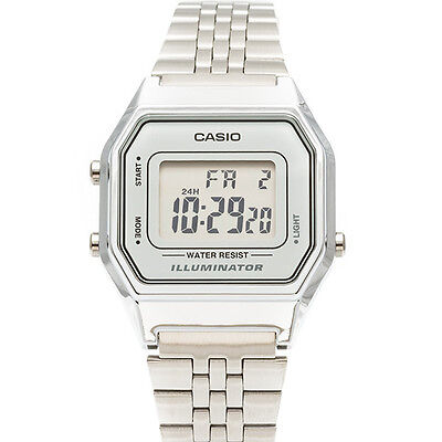 $ CDN36.09 • Buy Casio Women's Silver Tone Digital Quartz Illuminator Watch LA680WA-7DF
