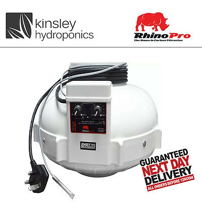 £69.99 • Buy Rhino Fans 4 5 6 8 10 12 Inch Inline Extractor Filter Carbon Hydroponics Twin