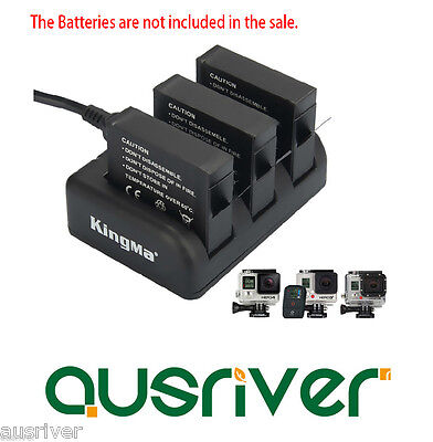 $ CDN29.84 • Buy 3 Battery Slot Charger Dock+3.1A Dual USB Output Adapter For GoPro Hero 3 3+ 4