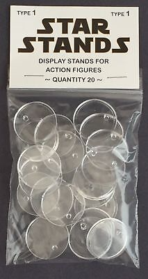 £6.45 • Buy Pack Of 20 Star Wars Stands - Vintage Action Figure Display Palitoy Kenner - T1c