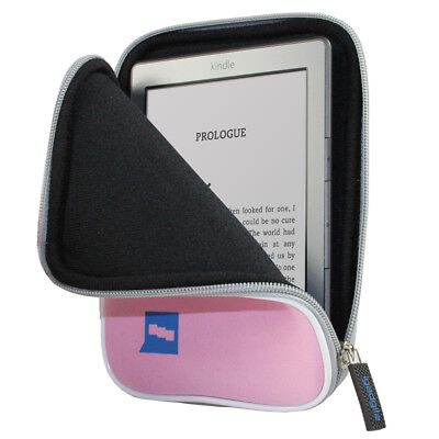 Pink Neoprene Case Cover Sleeve Pouch For Amazon Kindle 2014, Voyage, Paperwhite • 3.99£