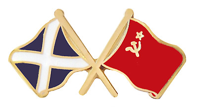 USSR Soviet Union Russia Flag & Scotland Flag Friendship Pin Badge • 4.50£