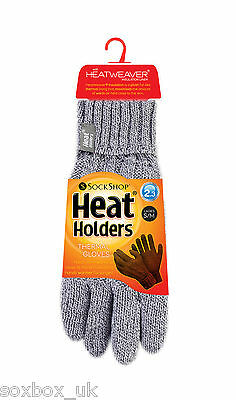 £8.99 • Buy Heat Holder - Ladies Cable Knit 2.3 Tog Thermal Heat Weaver Winter Gloves S/M