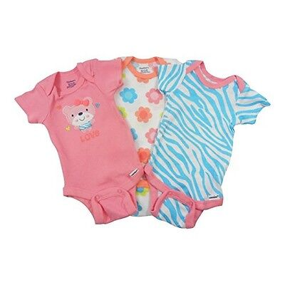 Gerber 3-Piece Baby Girl Teddy Bear/Flowers Onesies Size 12M BABY CLOTHES GIFT • 7.95£