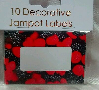 EASYBAKE Large 8cm Jam JAR Pot LABELS MIXED BERRIES Fruit Self Adhesive JAMPOT  • 2.75£