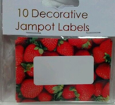 Large 8cm Jam JAR Pot LABELS Strawberry Strawberries Red Self Adhesive JAMPOT  • 2.95£