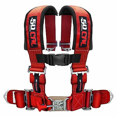 $ CDN131.55 • Buy 4 Point Safety Harness 2 Inch Seat Belt RZR 170 570 800 XP900 XP1000 S 900 Red