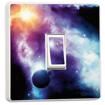 Light Switch Vinyl Sticker Cover Starry Space Nebula Planet By Stika.co • 2.49£