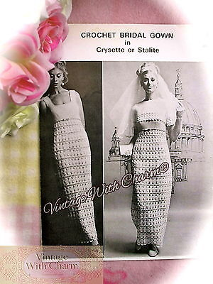 Vintage Crochet Pattern Wedding Dress Bride & Bolero 3 Sizes 34-38 Bust £2.79  • 2.79£