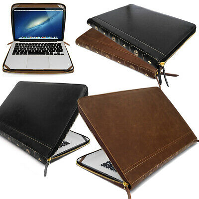 Smart Leather VINTAGE BOOK Laptop Folio Case, Cover Sleeve For Apple Macbook • 9.95£