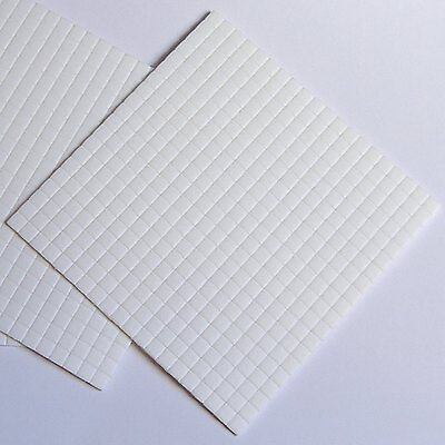 £2 • Buy 5mmx5mmx1mm Thick White Sticky Foam Pads X 400 Double Sided Adhesive