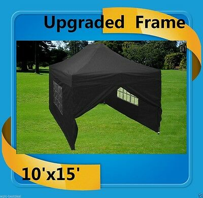 $399.98 • Buy 10'x15' Pop Up Canopy Party Tent EZ - Black - F Model Upgraded Frame