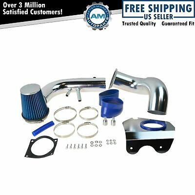 $78.37 • Buy Performance Cold Air Intake CAI W Blue Air Filter For Ford Mustang GT 4.6L V8