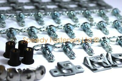 AU116.17 • Buy KTM RC8 Full Fairing Bolt Kit Dzus Quick Release Fasteners Clips & Well Nuts New